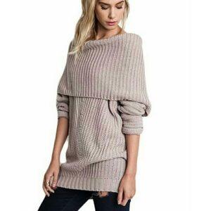 Umgee Chunky Foldover Ribbed Sweater